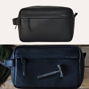 NWT Kiko Premium Leather Travel Kit.